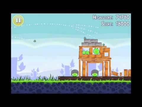Angry Birds Lite | 3 Star Walkthrough | Level 11