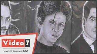 بالفيديو.. أشهر رسام بالعباسية: «البنات بتحب شاروخان والشباب بيحبوا الهضبة»