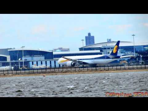 Jet Airways operating for Etihad Airways - Boeing 777-300ER Takeoff at JFK (HD)