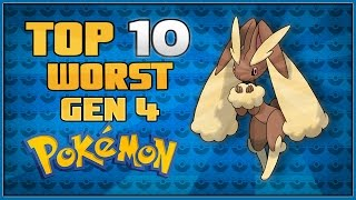 Top 10 Worst Gen 4 Pokémon | Pokémon Diamond and Pearl