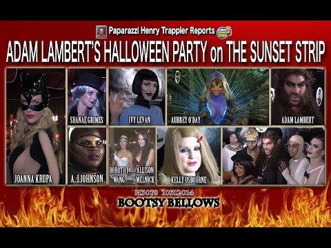 Adam Lambert's Halloween Party on The Sunset Strip