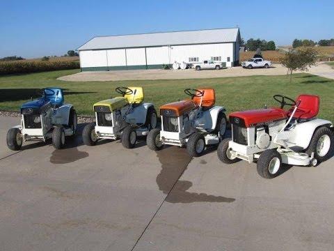 John Deere Patio Series 110 Garden Tractors Sold on Iowa Auction