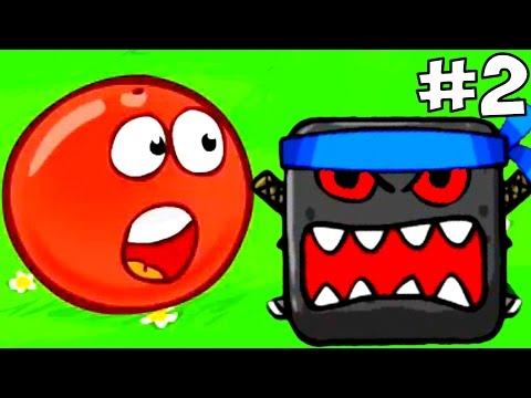 Прохождение Игры Красный Шарик Против Черного Квадрата.Red Ball 4 Дремучий Лес #1.Детские ИГРЫ