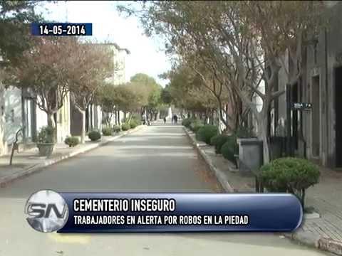 Trabajadores municipales en alerta por robos y amenazas en el Cementerio La Piedad