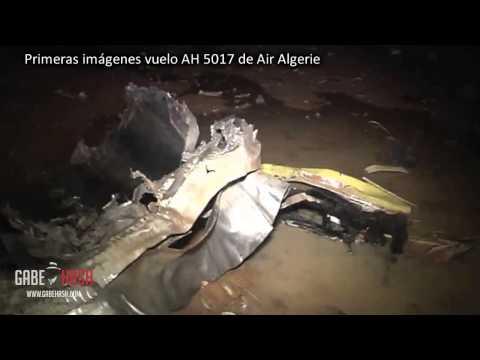 PRIMERAS IMAGENES DEL VUELO AH 5017 DE AIR ALGERIE QUE SE ESTRELLO EN MALI 25 DE JULIO 2014