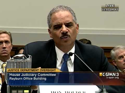 Eric Holder Refuses To Say