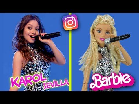 Barbie imita el instagram de Karol Sevilla