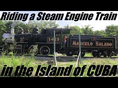 Vacation in CUBA: My Trip to CUBA - Riding a Vintage Classic Train