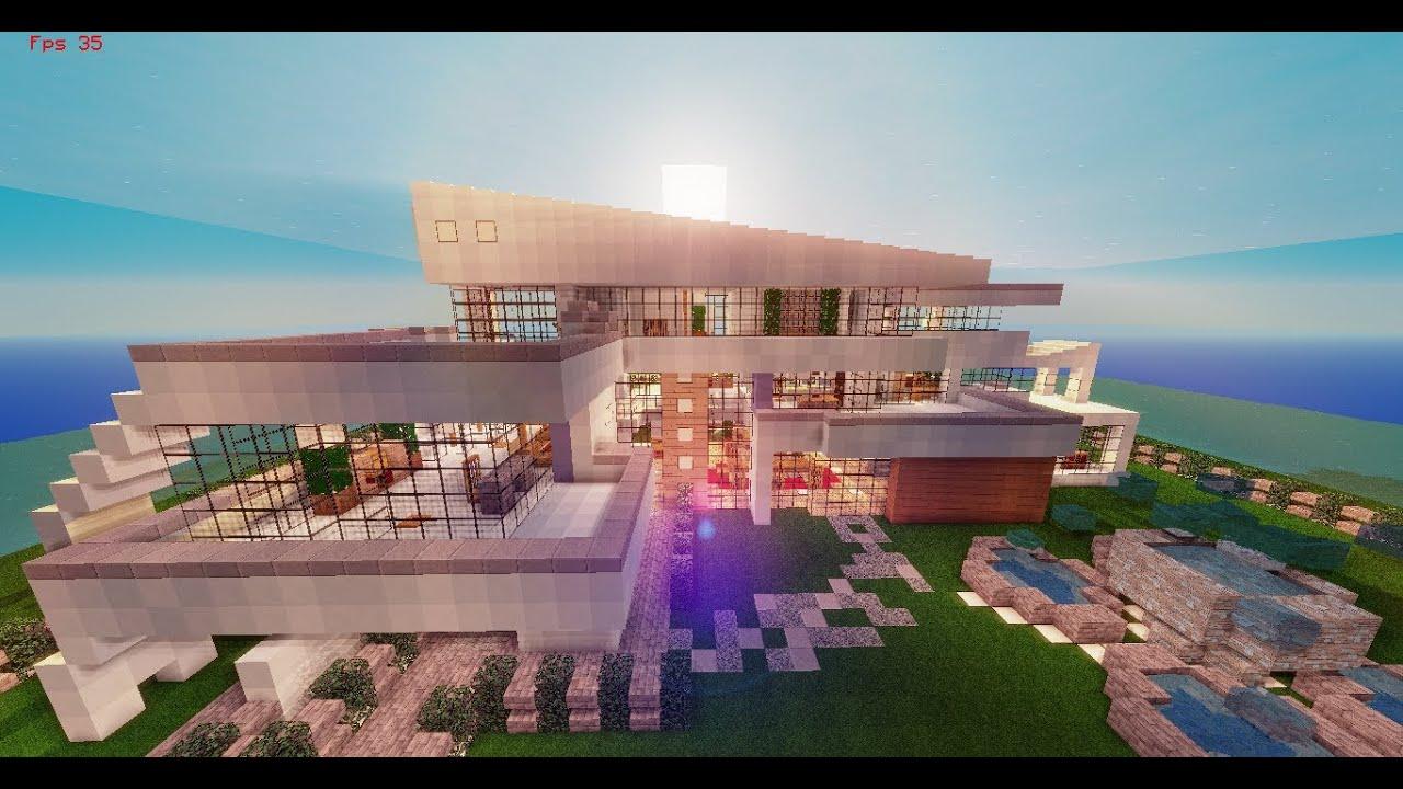 Minecraft casa moderna modern house descarga for Casa moderna para minecraft