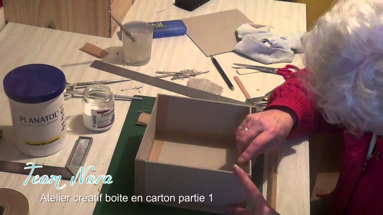 cartonnage tuto boite en carton par l 39 atelier nara p1 youtube. Black Bedroom Furniture Sets. Home Design Ideas