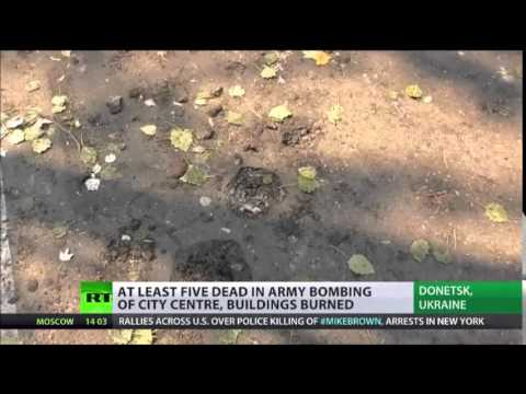 'WHITE Rain' Donetsk Residents Record Alleged phosphorus SHELLING
