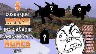 5 cosas que Notch Iba a AÑADIR a Minecraft y NUNCA hizo