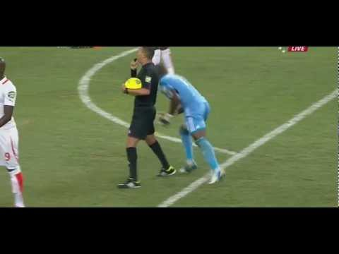 Vincent Enyeama tries to lift  the Referee (African Cup Of Nations) (By Nawras Amal)
