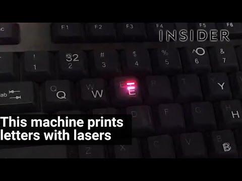 レーザー照射で文字を書くSF的な技術