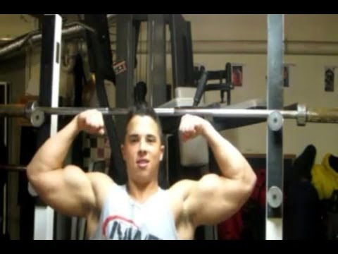 Barbell Shoulder Press - Jr. Bodybuilder Nick Wright - Deltoid Workouts Image 1
