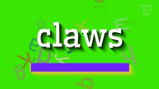 """How to say """"claws""""! (High Quality Voices)"""