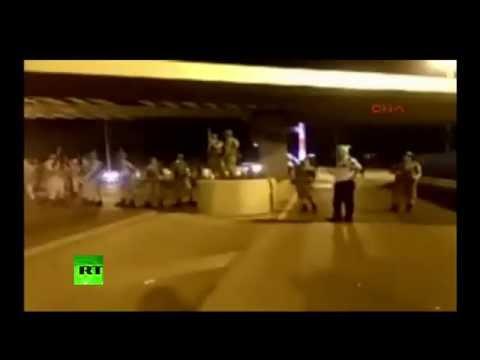 Military shut down Bosphorus Bridge in Istanbul as coup unfolds in Turkey