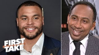Dak Prescott should be paid more than Carson Wentz - Stephen A. | First Take