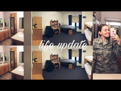 LIFE UPDATE // TECH SCHOOL LIFE & DORM TOUR // GOODFELLOW AFB