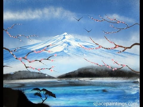 Spray Paint Art How To Make Mountains