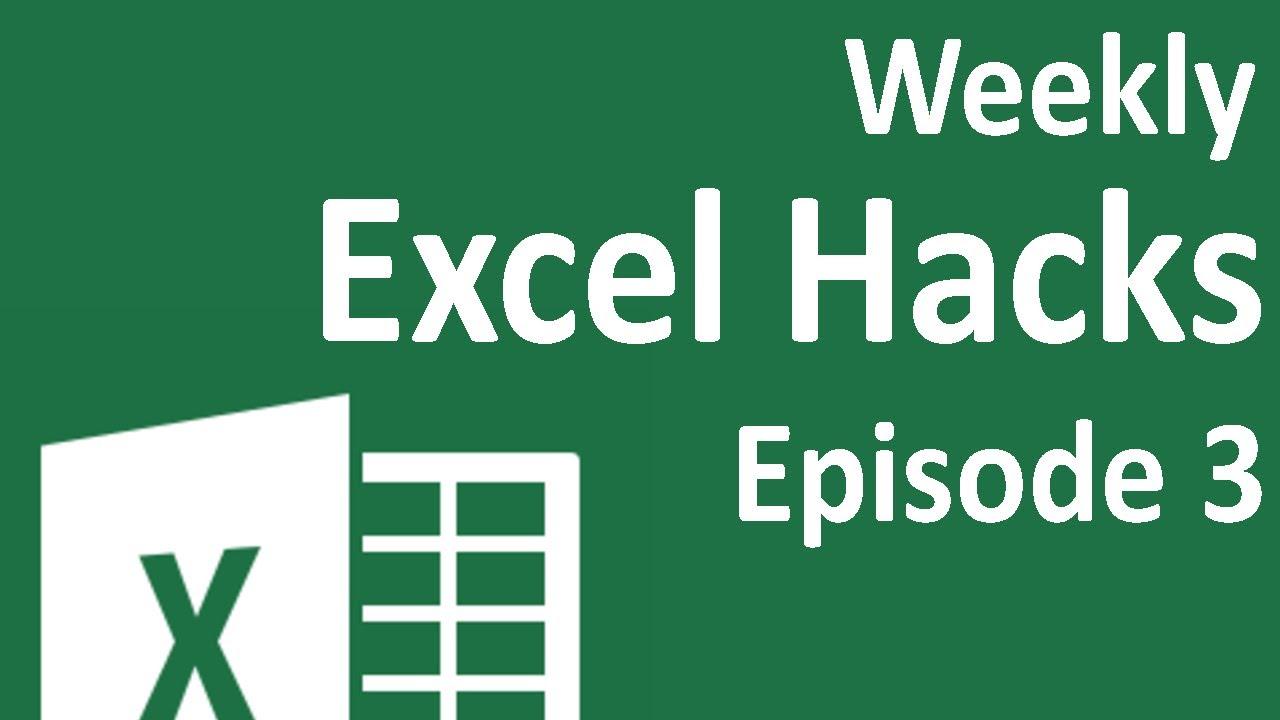 Vba tips excel v - Weekly Excel Hacks Episode 03 Youtube