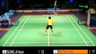 D3 - WS - TAI Tzu Ying vs SUNG Ji Hyun - 2013 Badminton Superseries Finals