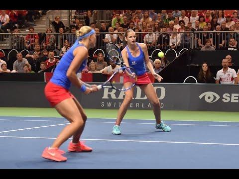 Highlights: Golubic/Hingis (SUI) v Hradecka/Pliskova (CZE)