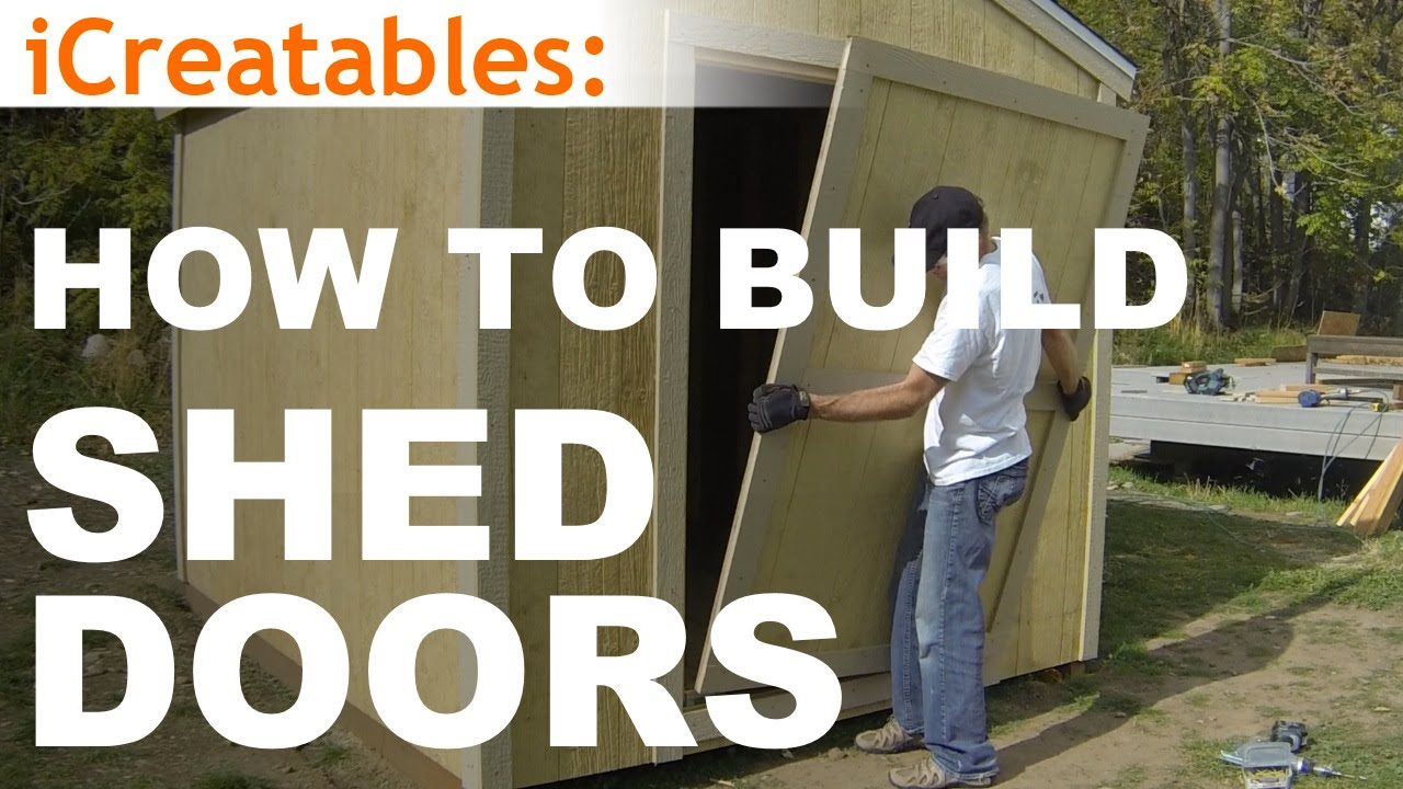How To Build A Shed - Part 10 - Shed Door Building - YouTube