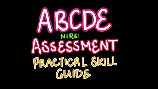 ABCDE ASSESSMENT PRACTICAL SKILL GUIDE | NURSING THEORY