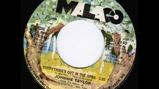 """JOHNNIE TAYLOR """"Everything's Out In the Open"""" 1988 Malaco MAL-2145"""