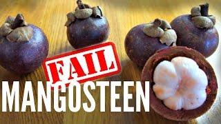 MANGOSTEEN Taste Test - how not to pick a mangosteen  Fruity Fruits