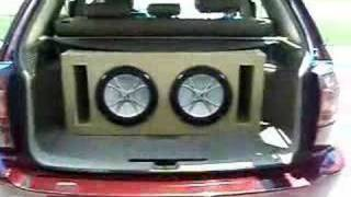 CVR 12 subwoofers and speakerbox