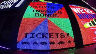 Space Invaders Frenzy Arcade Game Jackpot WIN #12 At Dave & Busters in Woburn, MA (From 4/10/18)