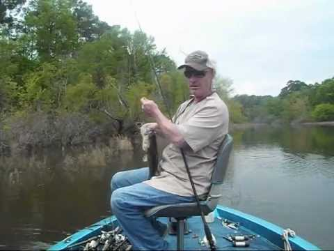 LARGEMOUTH BASS FISHING ON SAM RAYBURN RESERVOIR TEXAS THE LAST WEEK OF MARCH 2012