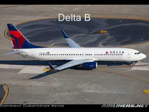 Tribute to Delta Airlines in fleet and cabin pictures