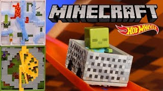 Minecraft Track Blocks Play Sets in Track Switch | Hot Wheels
