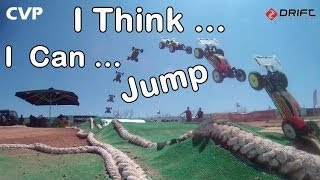 CVP - I think I can Jump - RC Buggy jumps on Track