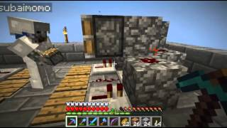 Minecraft - Lost in the Jungle with Momo, Ep 16 - Sky XP trap, hidden door and automated cow farm.