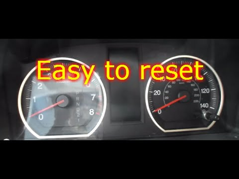 How To Reset Oil Life On A Honda Crv Youtube