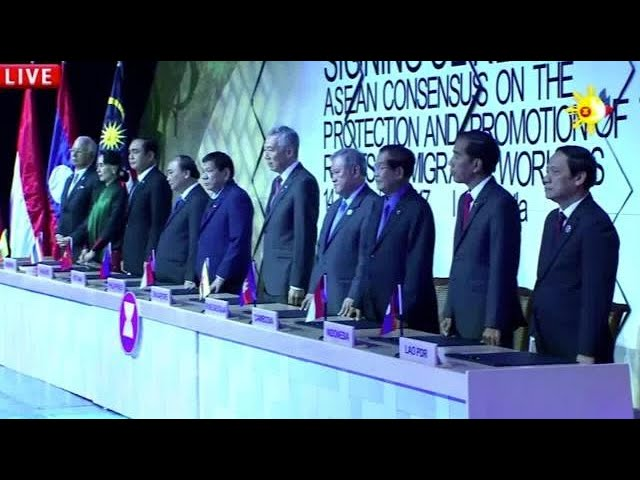 Asean leaders forge accord to protect region's migrant workers