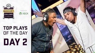 Madden 17 Best Plays of Day 2 | Madden Challenge 2017