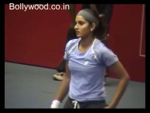 Sania Mirza on Court Video