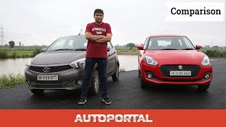 Tata Tiago Vs Maruti Suzuki Swift Comparison Review - Auto Portal