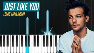 """Download Lagu Louis Tomlinson - """"Just Like You"""" Piano Tutorial - Chords - How To Play - Cover Gratis STAFABAND"""