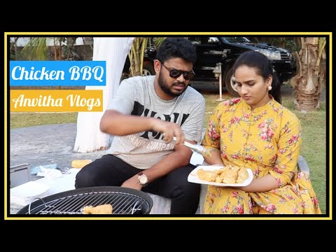 My Husband Cooked A Telugu Style Chicken BBQ for Me | GV Sri Raj | Anvitha Vlogs