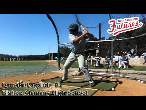 DEMETRI PAGALIDI, 1B, BISHOP ALEMANY HIGH SCHOOL, SWING MECHANICS AT 200 FPS - 02/25/2014