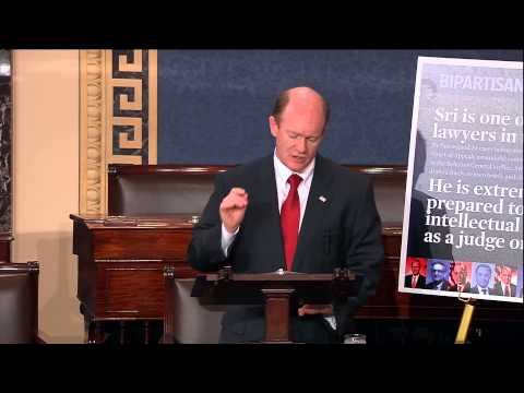 Senator Coons implores Republicans to stop obstruction and allow a vote on Sri Srinivasan