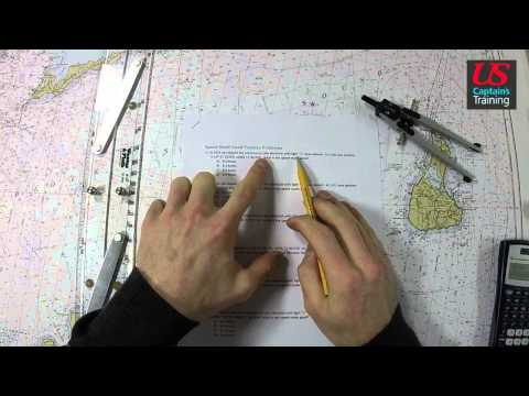 Captain License Chart Navigation – Speed Made Good Practice Problem 1