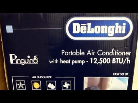 Unboxing DeLonghi Portable Air Conditioner PAC AN125HPEC 12.000 BTU  w/Power Consumption Info