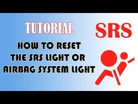 How to reset SRS Airbag indicator light